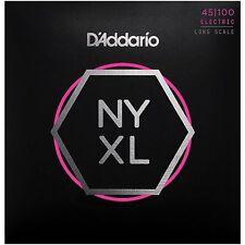 D'ADDARIO NYXL45100 NICKEL PLATED STEEL BASS STRINGS, REG LIGHT GAUGE 4's 45-100