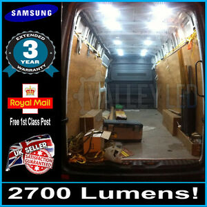 Renault Trafic Interior Back Load XL LED Light Bulb Kit Super Bright 45 LED