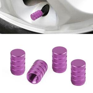 4pcs Purple Aluminum Car Auto Wheel Tyre Valve Caps Airtight Stem Air Caps