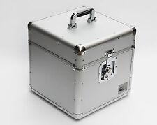 "12"" LP Vinyl Record Aluminium DJ Flight Carry Case Silver Holds 100 Strong Box"