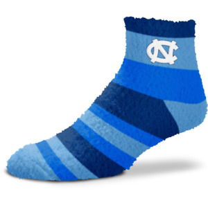 North Carolina Tar Heels Rainbow Stripe Soft Fuzzy Socks