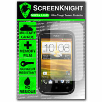 Screenknight HTC Desire C FRONT SCREEN PROTECTOR invisible Military Grade shield