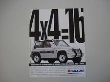 advertising Pubblicità 1994 SUZUKI VITARA 4X4 16V
