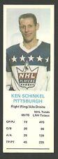 Ken Schinkel Pittsburgh Penguins 1970-71 Dad's Cookies Hockey Card EX/MT