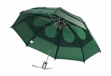 """Gustbuster Metro Dual Canopy Collapsible Windproof 43"""" Umbrella Green Wind Proof"""