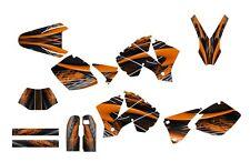 2003 KTM EXC 450 525 graphics dirt bike sticker kit NO3333 Orange