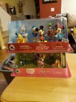 Disney Jr- Mickey Mouse Figure Set- And- Minnie Figure Set- New Sealed 2 Set Lot