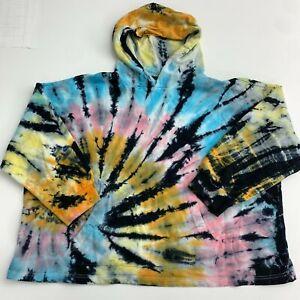 Forever 21 Hooded Sweatshirt Women's Plus 3X  Tie Dye Knit Pocket Long Sleeve