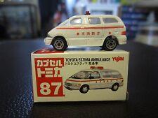 N Scale Yujin Tomica #87 Toyota Estema Mini Van Ambulance Minivan