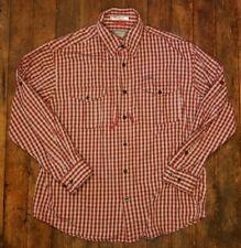 Orvis Trout Bum Red plaid vented pocket fishing shirt Men's L