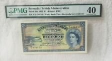 Bermuda/British Administration P#20a 1952 1 Pound PMG 40 Extremely Fine