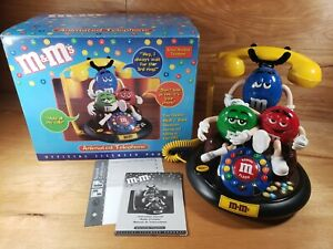 M&M 's Candy Animated Talking Telephone Phone VGC