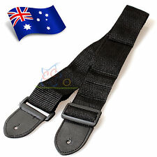 Black Replacement Adjustable Nylon Guitar Strap Belt for Acoustic/Electric/Bass