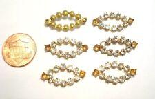 12 Vintage Brass Austrian Crystal Rhinestone 23mm. Unset Navette Findings  E52