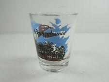 VINTAGE STATE OF PENNSYLVANIA SOUVENIR SHOT-GLASS RETRO DECOR BARWARE BAR