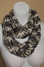US Seller NEW Womens Crochet Infinity Scarf Fashion Black Gray Knit Loop Circle