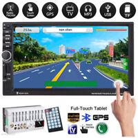 "7"" HD 2DIN MP3 MP5 lettore GPS Sat Navi Touchscreen Bluetooth USB/TF/FM Radio"