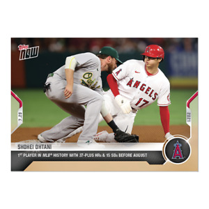2021 TOPPS NOW #577 SHOHEI OHTANI ANGELS 37 HOME RUNS & 15 SB BEFORE AUGUST