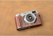 VR Handmade Genuine Leather Camera Half Case for Fujifilm X100F Dark Brown