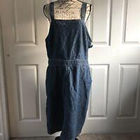 Universal Thread Dark Blue Denim Jeans Jumper Dress Women's Plus Size 18 NWT