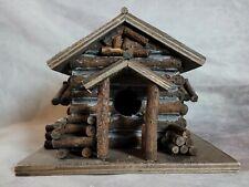 Home Interiors Rustic Log Cabin Trinket Box Birdhouse.