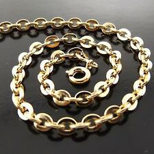 FSA143 GENUINE 18K YELLOW G/F GOLD SOLID ANTIQUE STYLE PENDANT NECKLACE CHAIN