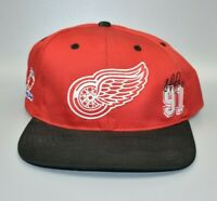 Detroit Red Wings Sergei Fedorov Vintage 90's Twins Enterprise Snapback Cap Hat