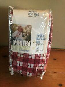 1997 Martha Stewart Peony Garden Twin Ruffled Bed Skirt