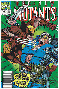NEW MUTANTS #93 NEWSSTAND 1990 NM 9.4 CABLE WOLVERINE SUNFIRE LIEFELD McFARLANE