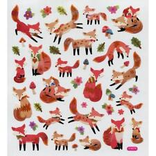 Scrapbooking Crafts Stickers Foxes Fox Repeats Leaves Flowers Poses Mom Baby