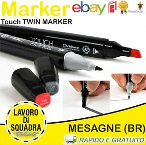 Touch TWIN MARKER Doppia Punta Vari Colori Writing Graffiti per Sketch & Design