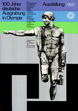 """Olympische Spiele 1972 München """"100 Jahre dt. Ausgrabung in Olympia"""" DIN A1"""