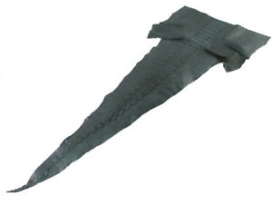 PELGIO Genuine Crocodile Alligator Tail Skin Leather Soft Hide Pelt Black