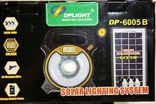 3-7W panneau solaire, éclairage et système camping extérieur lampe led usb 3x ampoules & horloge
