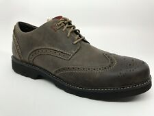 DUNHAM REVDARE Waterproof Oxford Dress Casual Wingtip Shoes Size 11 D(M) Stone