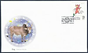 Thailand Stamp 2021 Zodiac - Year of the Ox FDC