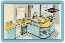 Playing Cards 1 Single Swap Card - Old Vintage LEISURE Retro FORMICA Kitchen AD
