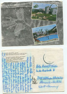 07695 - Nasca-Linien - Ica, Peru - Hotel Las Dunas - Ansichtskarte, gelaufen