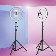 LED Ringlicht Ringleuchte Dimmbar mit Stativ Lampenstativ Handyklammer Für Video