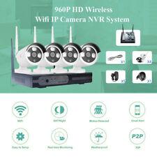 720P 4CH HD WIFI Kit Caméra Sans fil CCTV Vidéo Surveillance Sécurité Extérieur