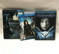 Underworld 3 DVD Movie Lot Collection,Underworld part 1 Evolution, Awakening,