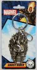 MARVEL / MONOGRAM GHOST RIDER PEWTER KEYCHAIN FLAMING SKULL AWESOME