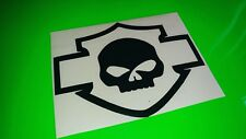 HARLEY DAVIDSON SKULL bike, laptop, car, window, mirror vinyl Decal/Sticker