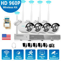 4CH Wireless 4* 960P Camera + 1080P NVR Kit Security Camera System Nigh Vision