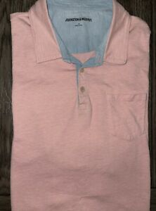 Mens Johnston & Murphy Short Sleeve Pima Cotton Polo Shirt Size XL - EUC