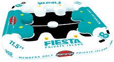 SPORTSSTUFF 54-2010 Fiesta Private Island 8 Person Floating Lake Raft w/ Cooler