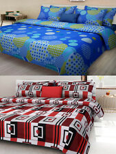 Homefab India Combo of 2 Cotton Double Bed Sheet (Combo800)