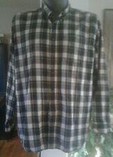 Vintage Men's L.L. Bean Green Plaid Heavy Flannel Button Down Shirt & Collar XXL