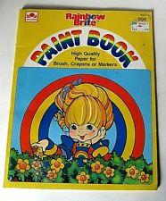 Vintage Rainbow Brite Paint Book 1984 Hallmark Cards Golden Book NOS UNUSED