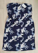 NEXT size 20 tall STRAPLESS HOLIDAY DRESS short BIKINI COVER UP mini BEACH blue